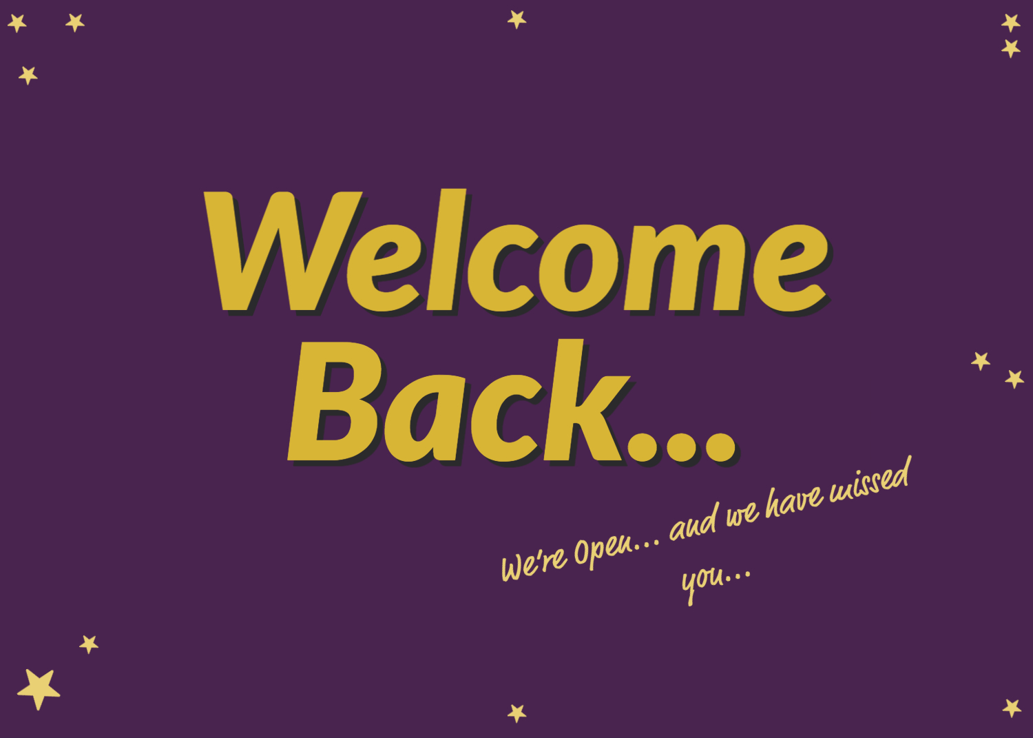Welcome Back...